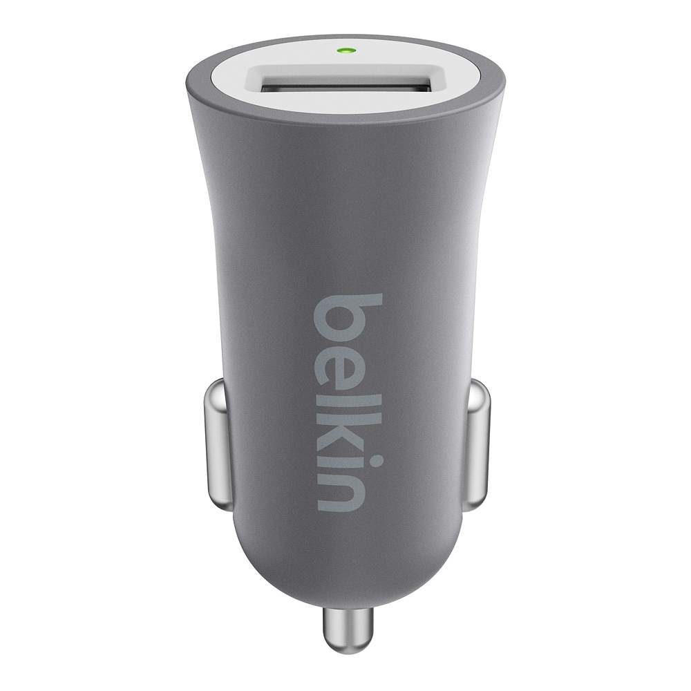 Belkin Premium Ultra- Fast 2.4AMP USB Car Charger -Space Gray